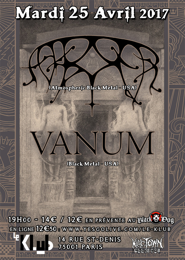 Ash Borer + Vanum ■ 25.04
