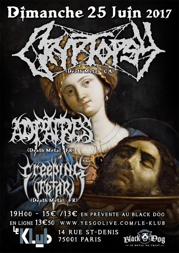 Cryptopsy + Ad Patres + Creeping Fear ■ 25.06