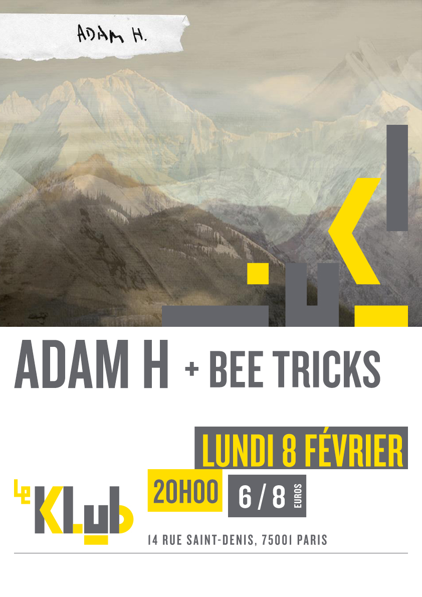 ADAM H + BEE TRICKS ■ LIVE ■ 08-02-2016 ■20H00