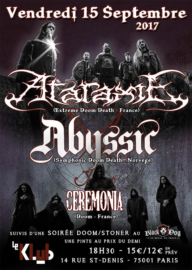 Ataraxie + Abyssic + Ceremonia ■ 15.09