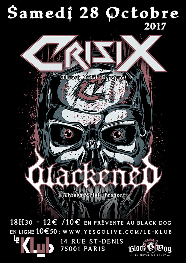 CRISIX + BLACKENED ■ 28.10
