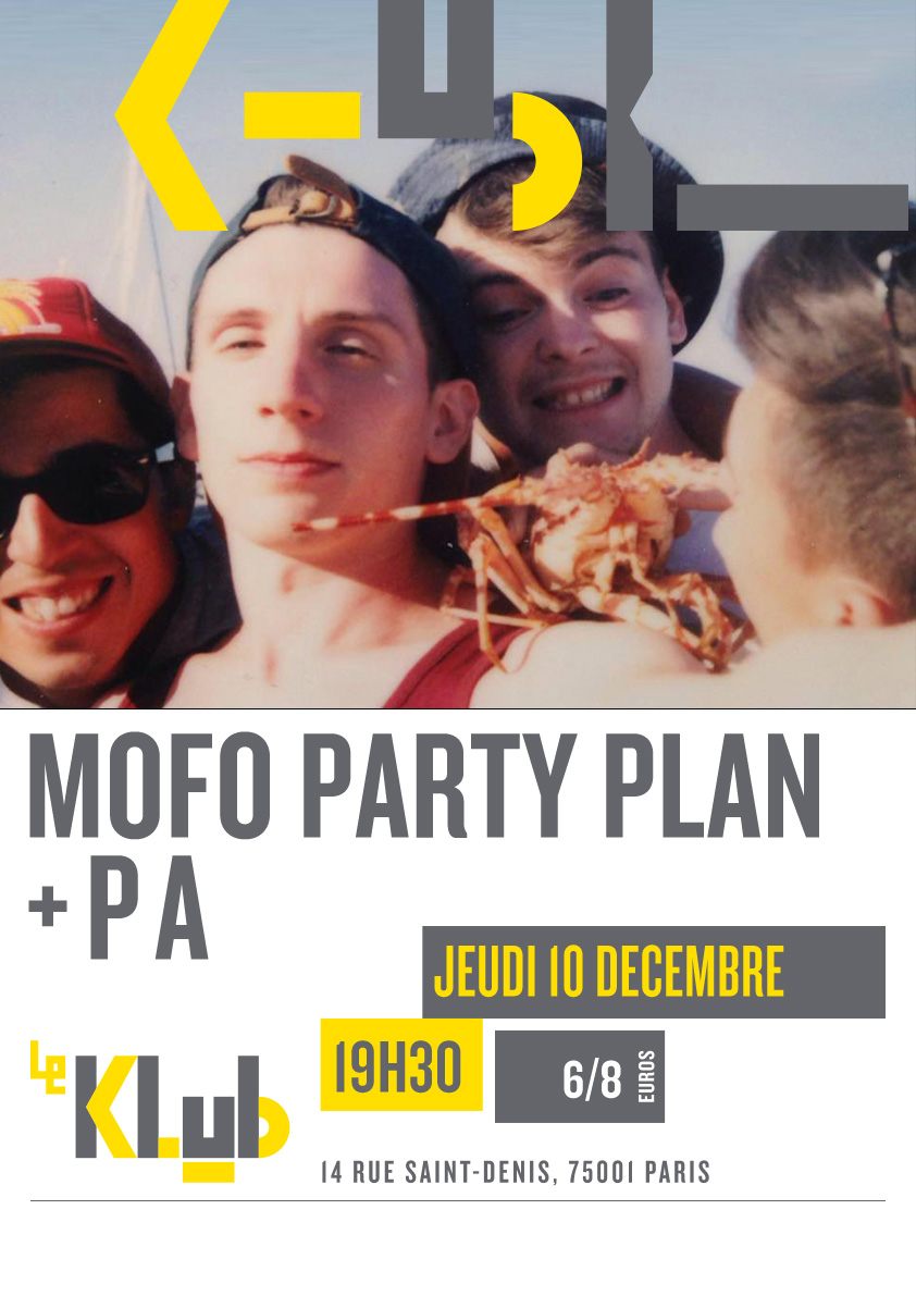 MOFO PARTY PLAN ■ LIVE ■ 19H30