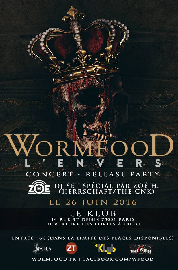 WORMFOOD (Release Party) + DJ Set Zoé H.