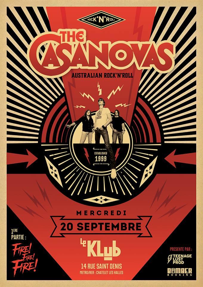 THE CASANOVAS + FIRE ! FIRE ! ■ 20.09