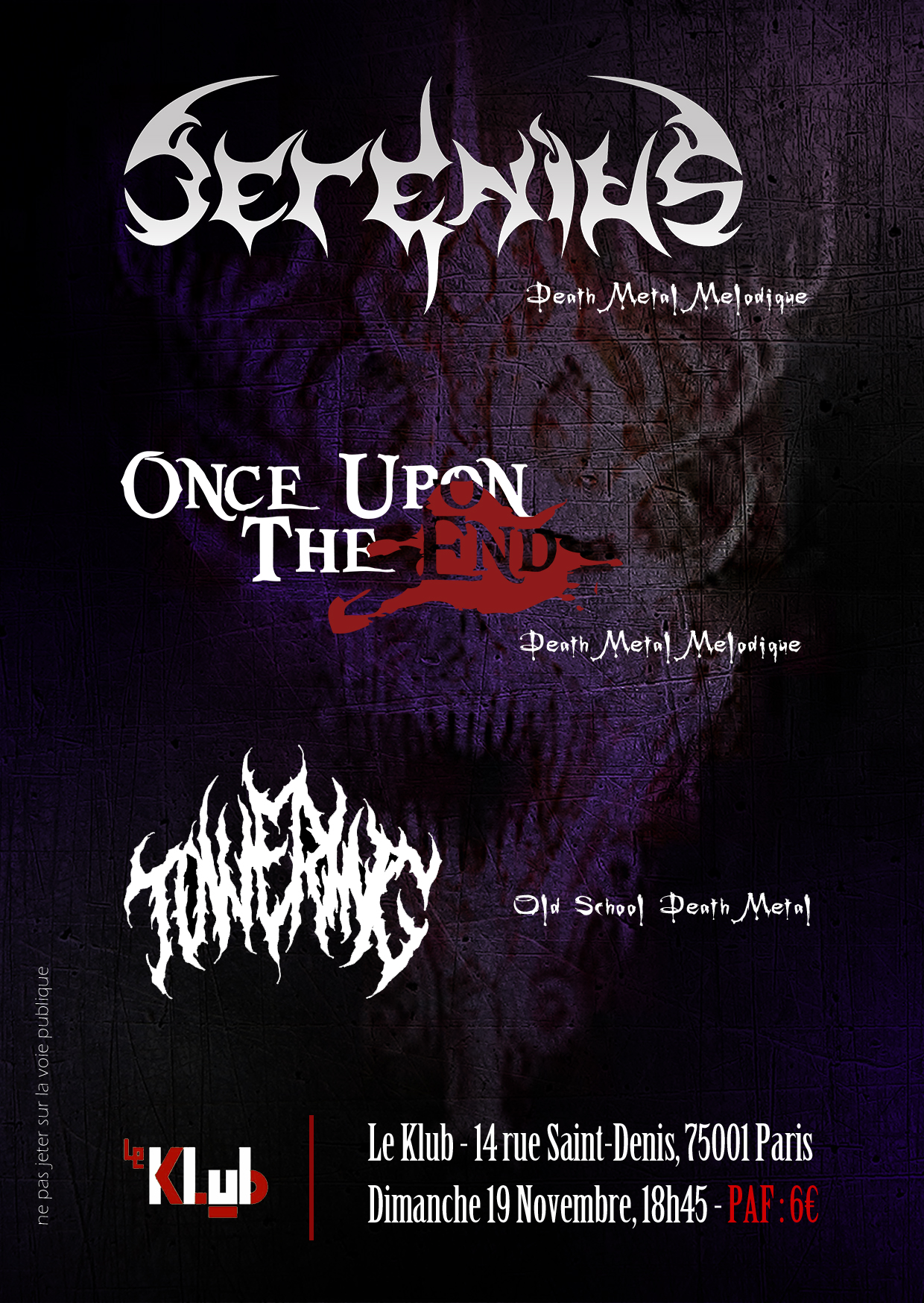 Serenius + Once Upon the End + Towering ■ 19.11
