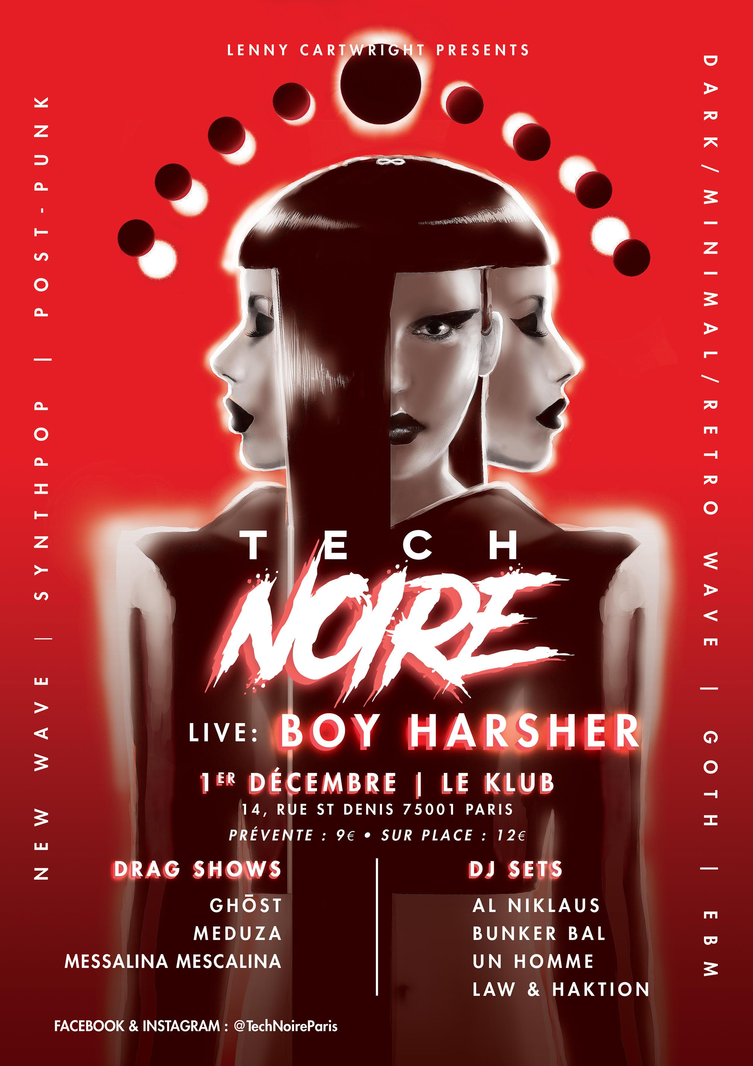 TECH NOIRE + BOY HARSHER ■ 01.12