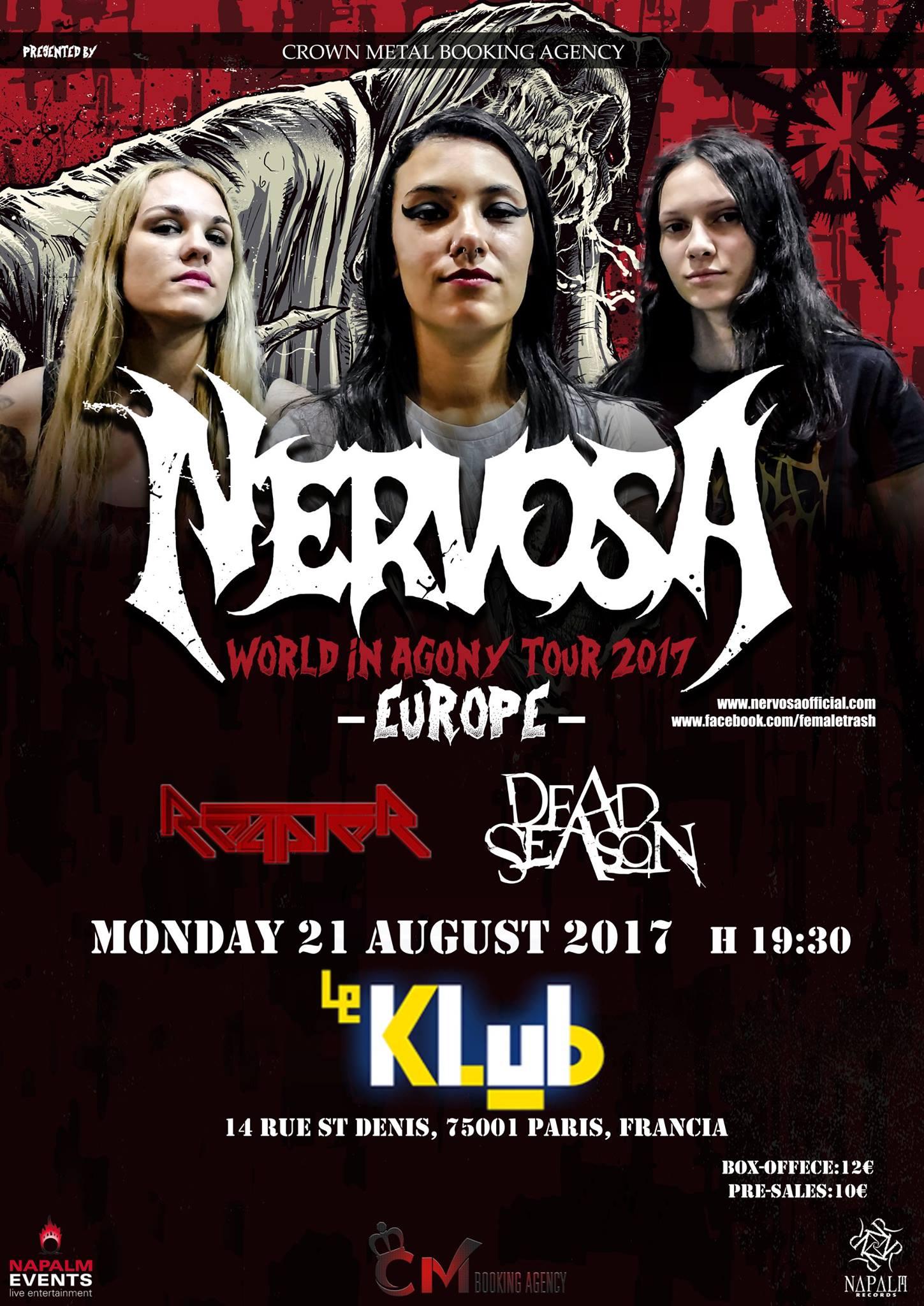 NERVOSA + Reapter + Dead Season ■ 21.08
