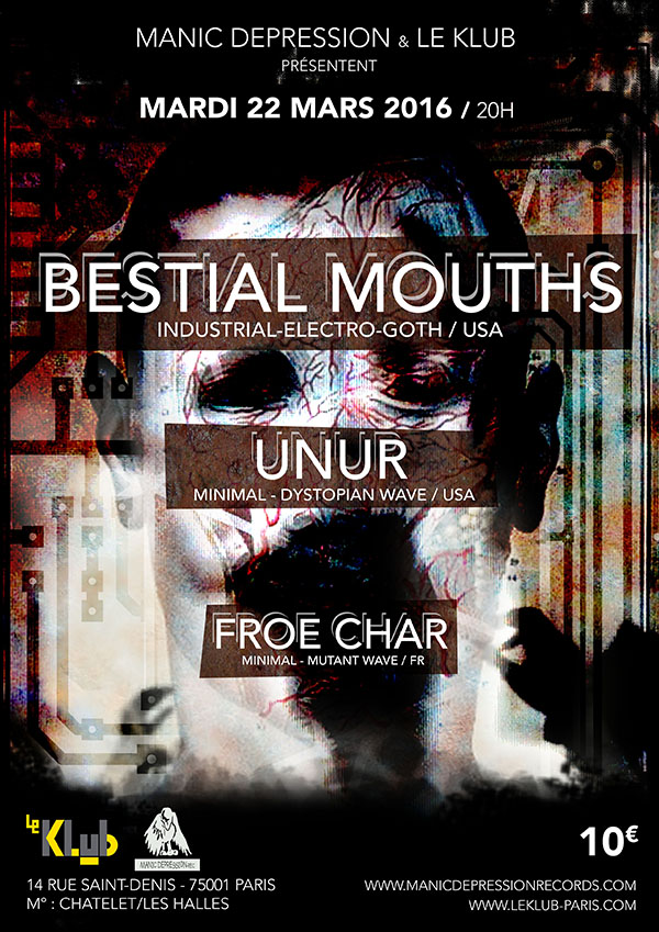 BESTIAL MOUTHS ■ LIVE ■ 22/03/16 ■ 20H00