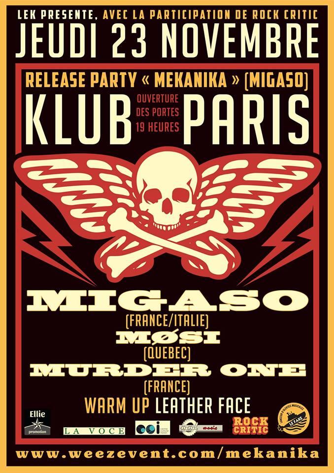 Migaso + Mosi + Murder One ■ 24.11