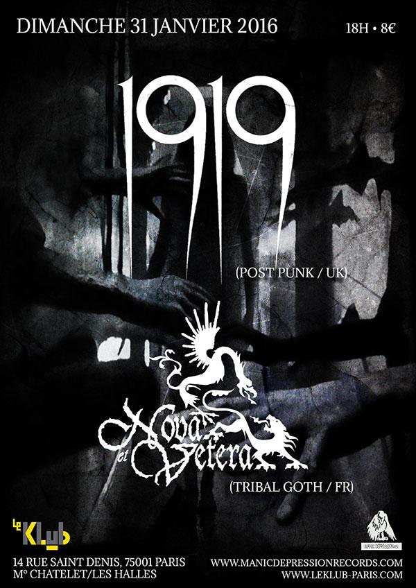 1919 + NOVA & VETERA ■ LIVE ■ 31-01-2016 ■18H00
