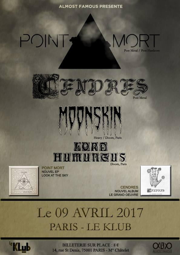 Point Mort + Cendres + Moonskin + Lord Humungus Live ■ 09.04