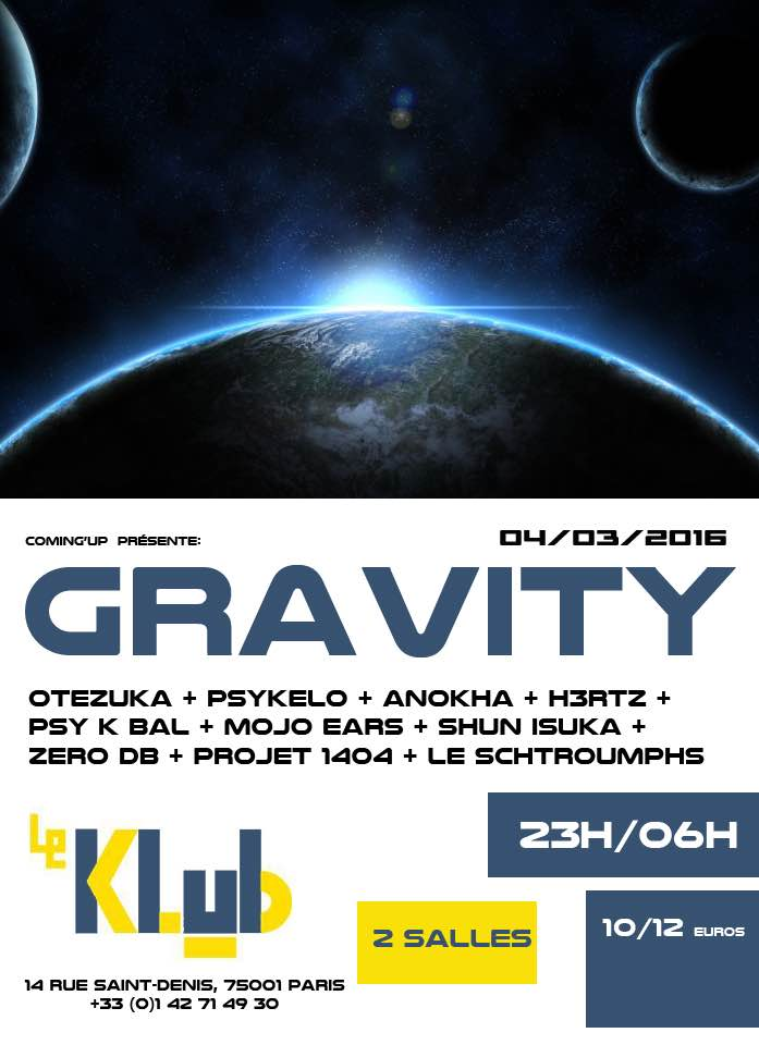 Gravity ■ DJ Party ■ 04/03/16 ■ 23H