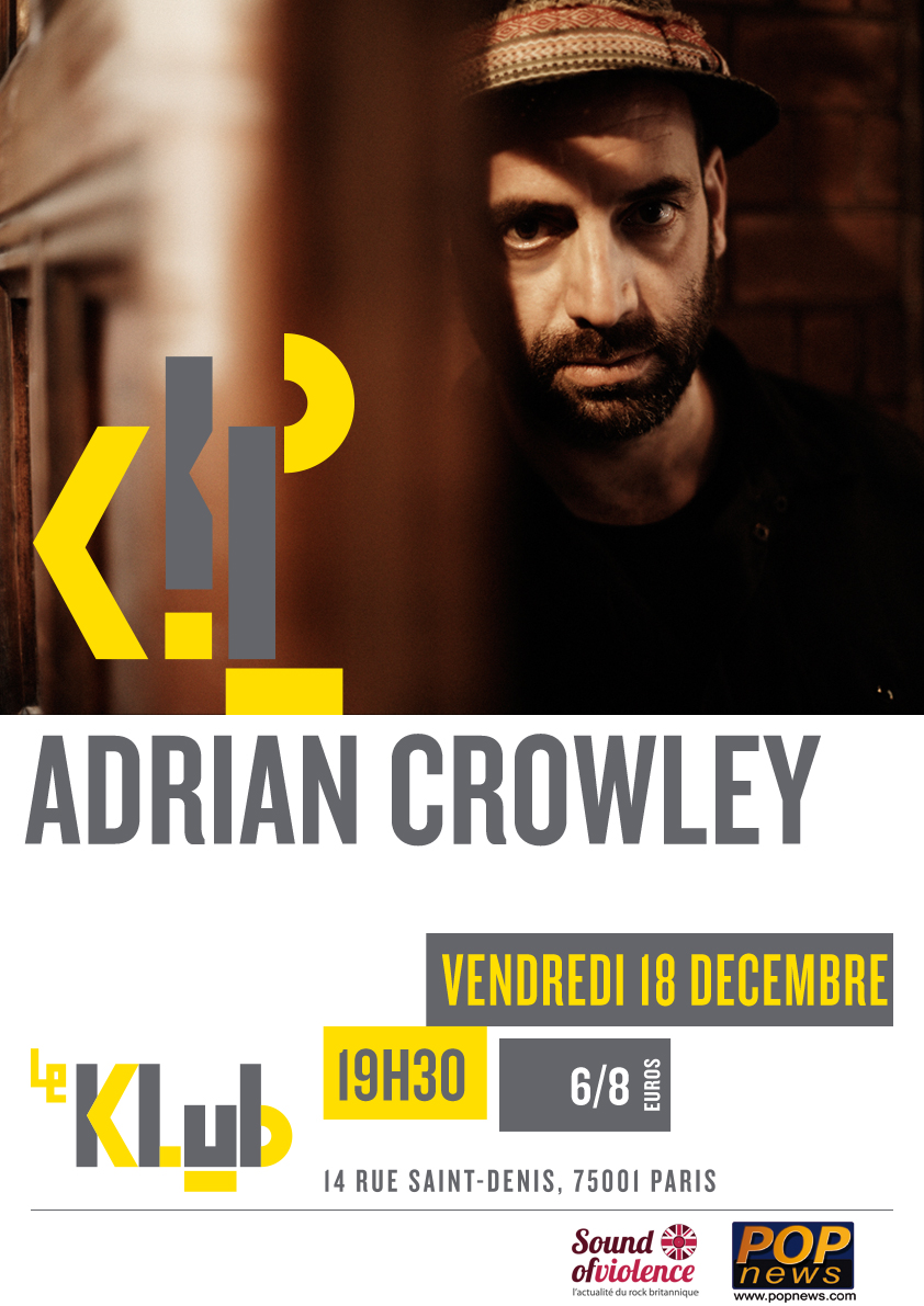 ADRIAN CROWLEY ■ LIVE ■ 19H30