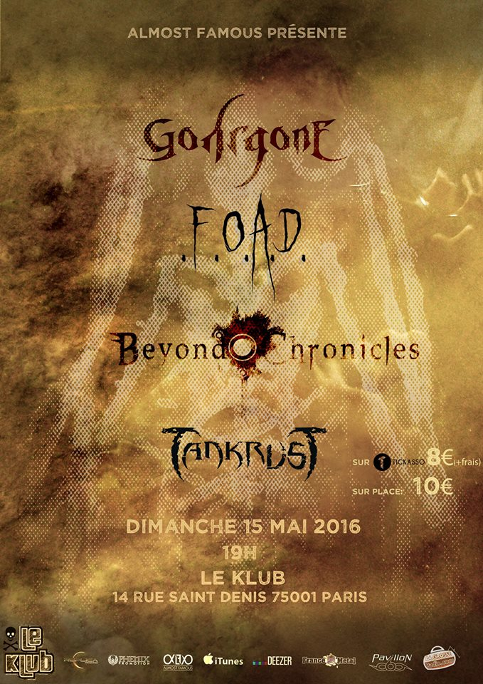 GOHRGONE + F.O.A.D + BEYOND CHRONICLES + TANKRUST