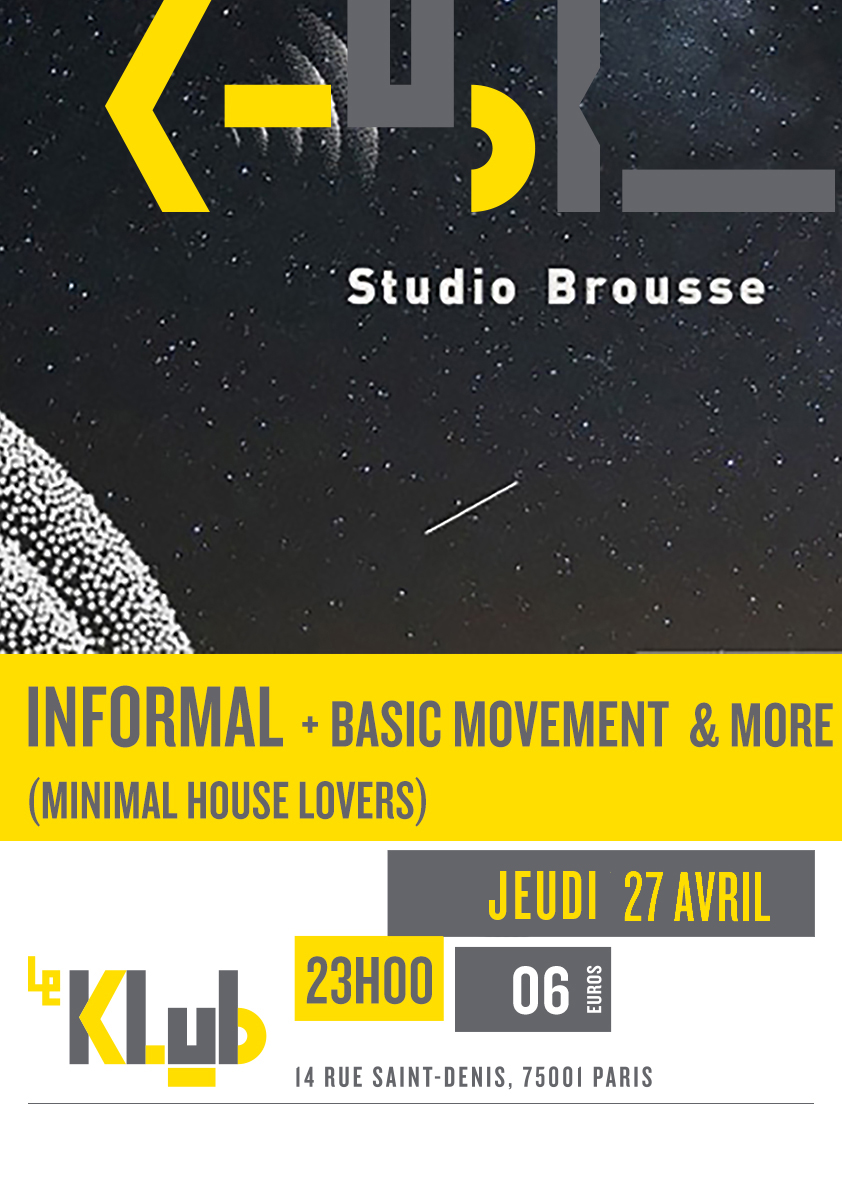 Studio Brousse: Basic Movement + Informal + Exposure ■ 27.04
