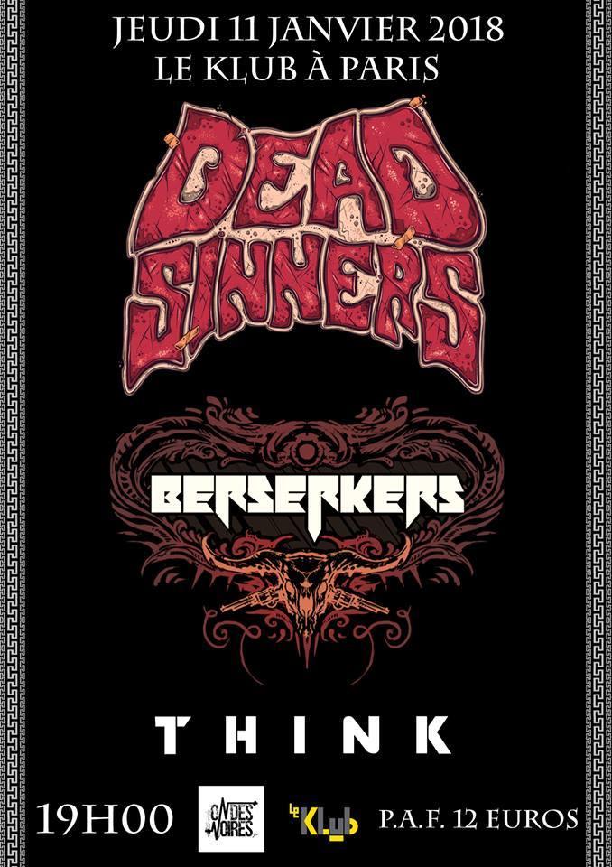 DEAD SINNERS + BERSERKERS + THINK ■ 11.01