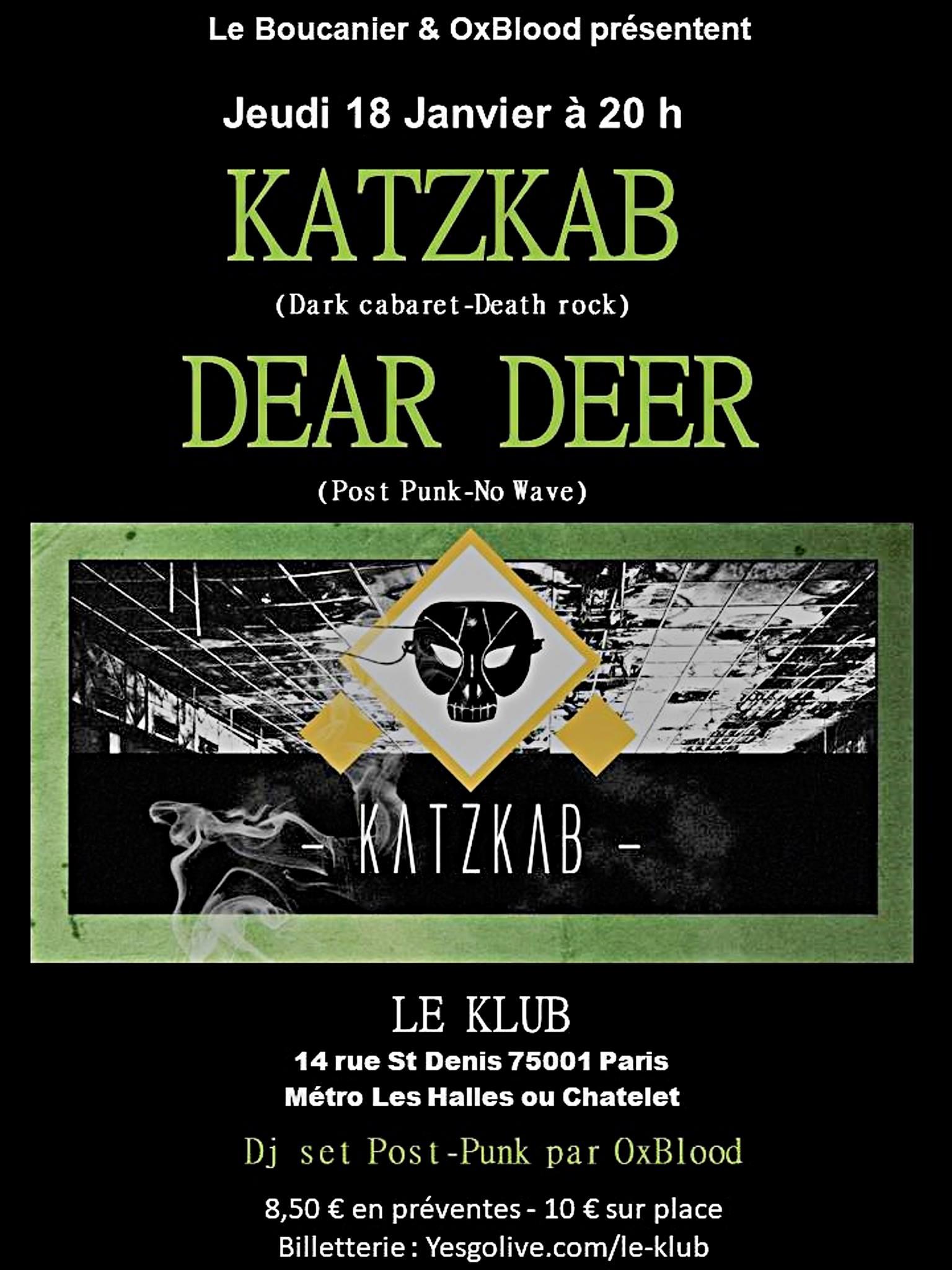 KATZKAB + DEAR DEER ■ 18.01