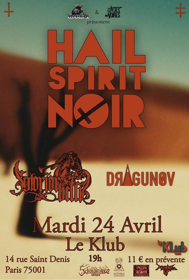 HAIL SPIRIT NOIR + GLORIOR BELLI + DRAGUNOV ■ 24.04
