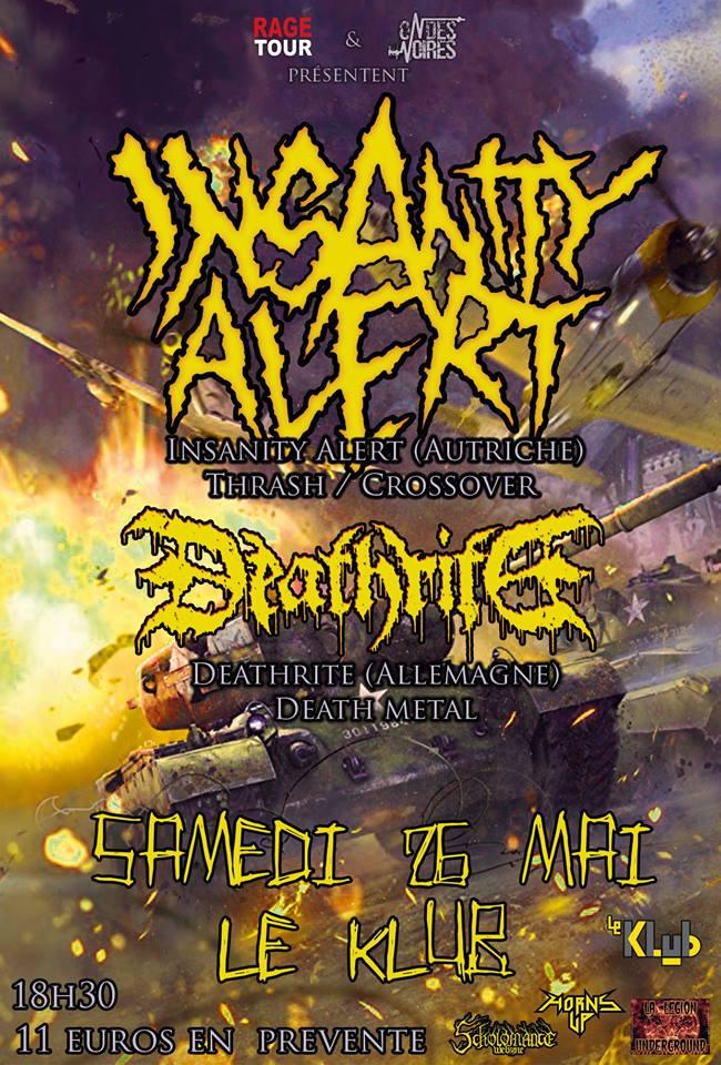 INSANITY ALERT + DEATHRITE ■ 26.05