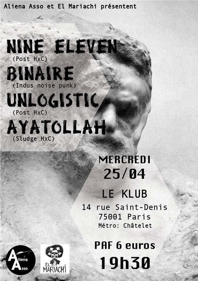 NINE ELEVEN + BINAIRE + UNLOGISTIC + AYATOLLAH ■ 25.04