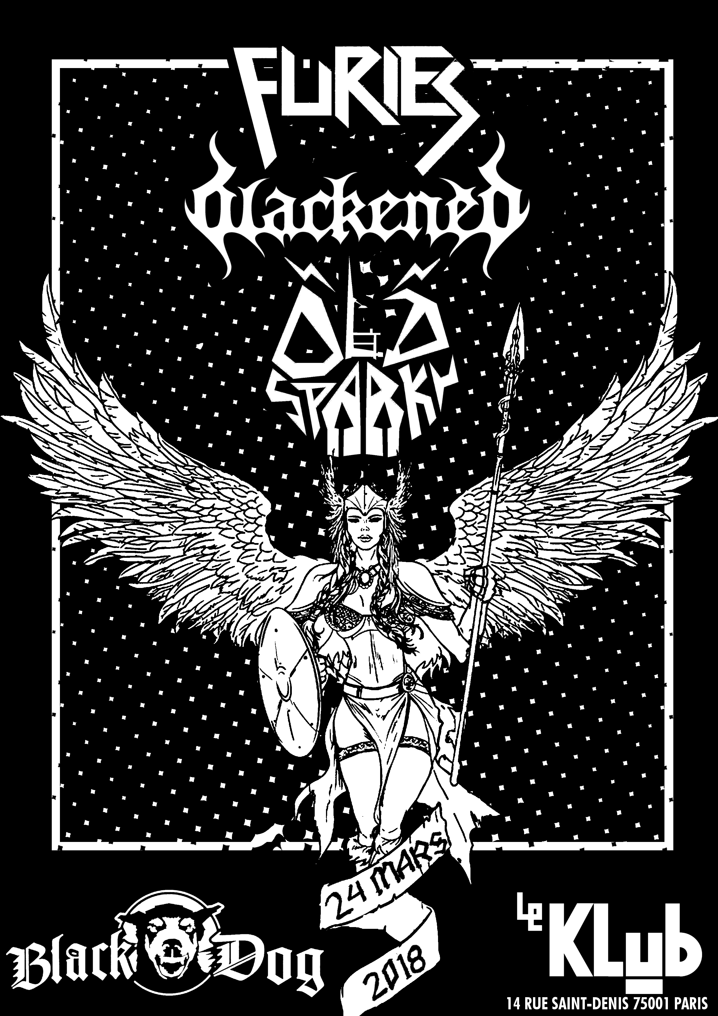 FURIES + BLACKENED + OLD SPARKY ■ 24.03