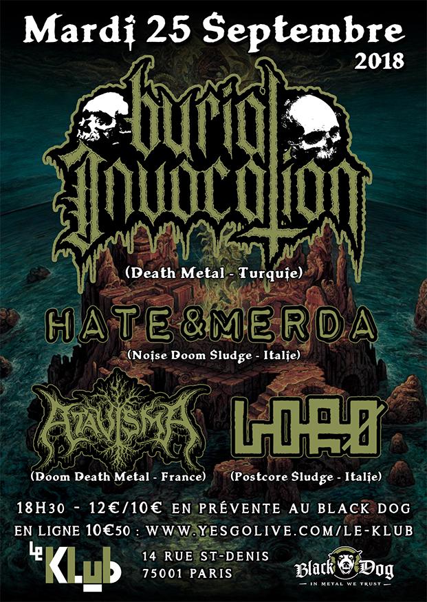 Burial Invocation, Hate&Merda, Atavisma, Lorø ■ 25-09