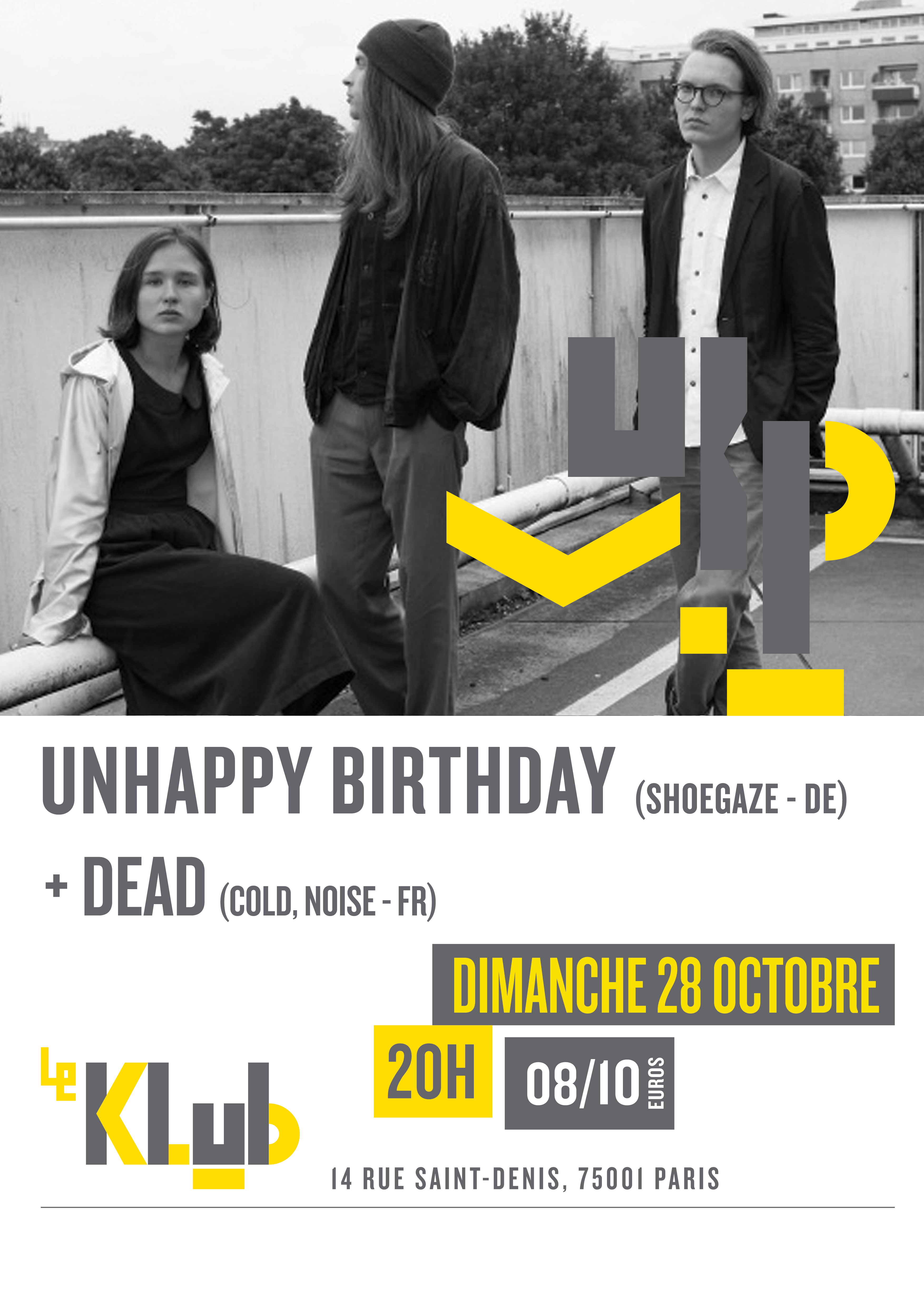 UNHAPPYBIRTHDAY + DEAD ■ 28.10