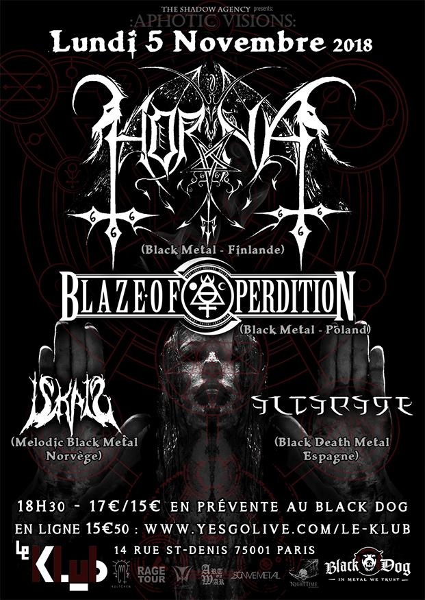 Horna, Blaze of Perdition, Iskald & Altarage ■ 5.11