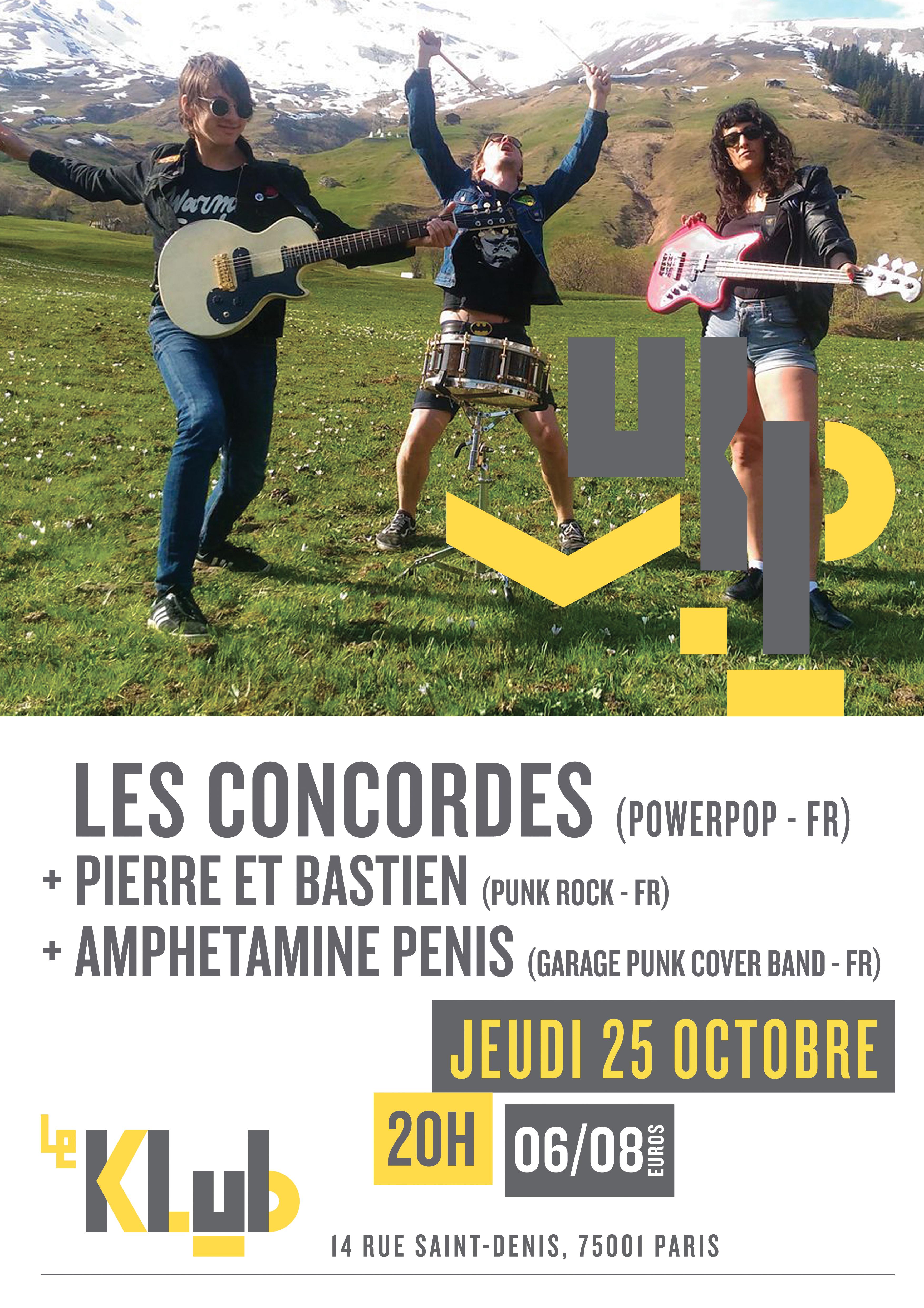 LES CONCORDES + PIERRE ET BASTIEN ■ 25.10