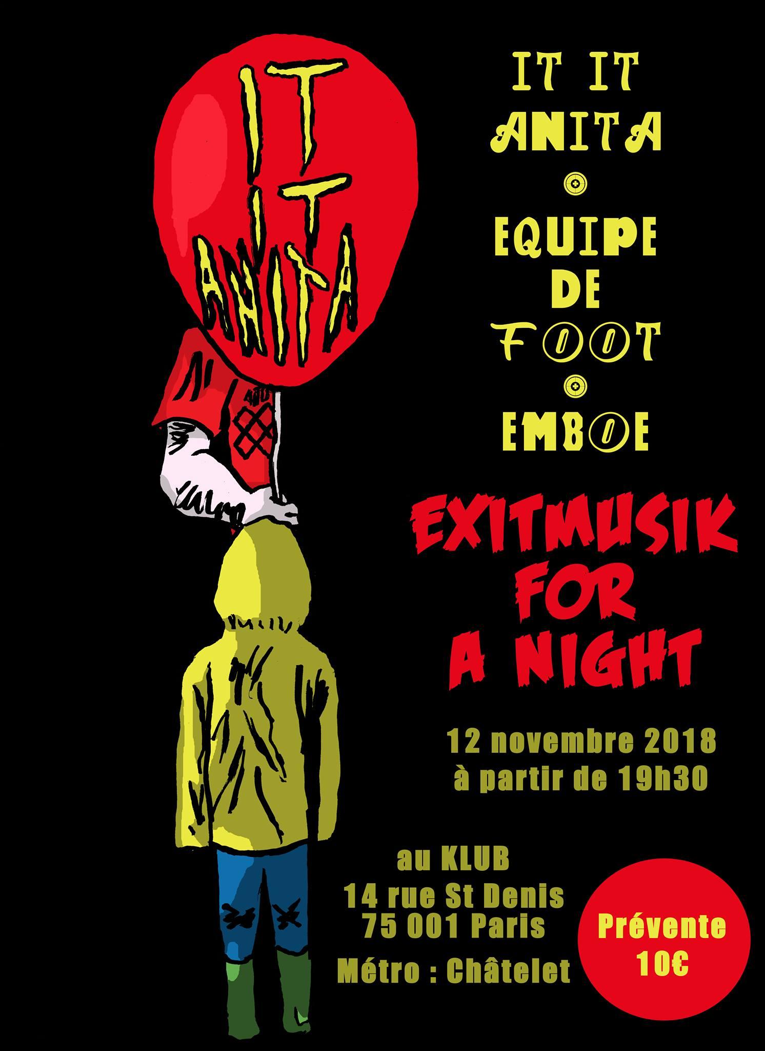 IT IT ANITA + ÈQUIPE DE FOOT + EMBOE ■ 12.11