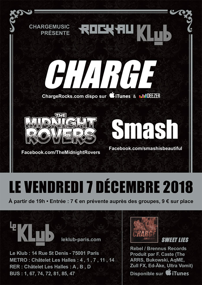 CHARGE + MIDNIGHT ROVERS + SMASH ■ 07.12
