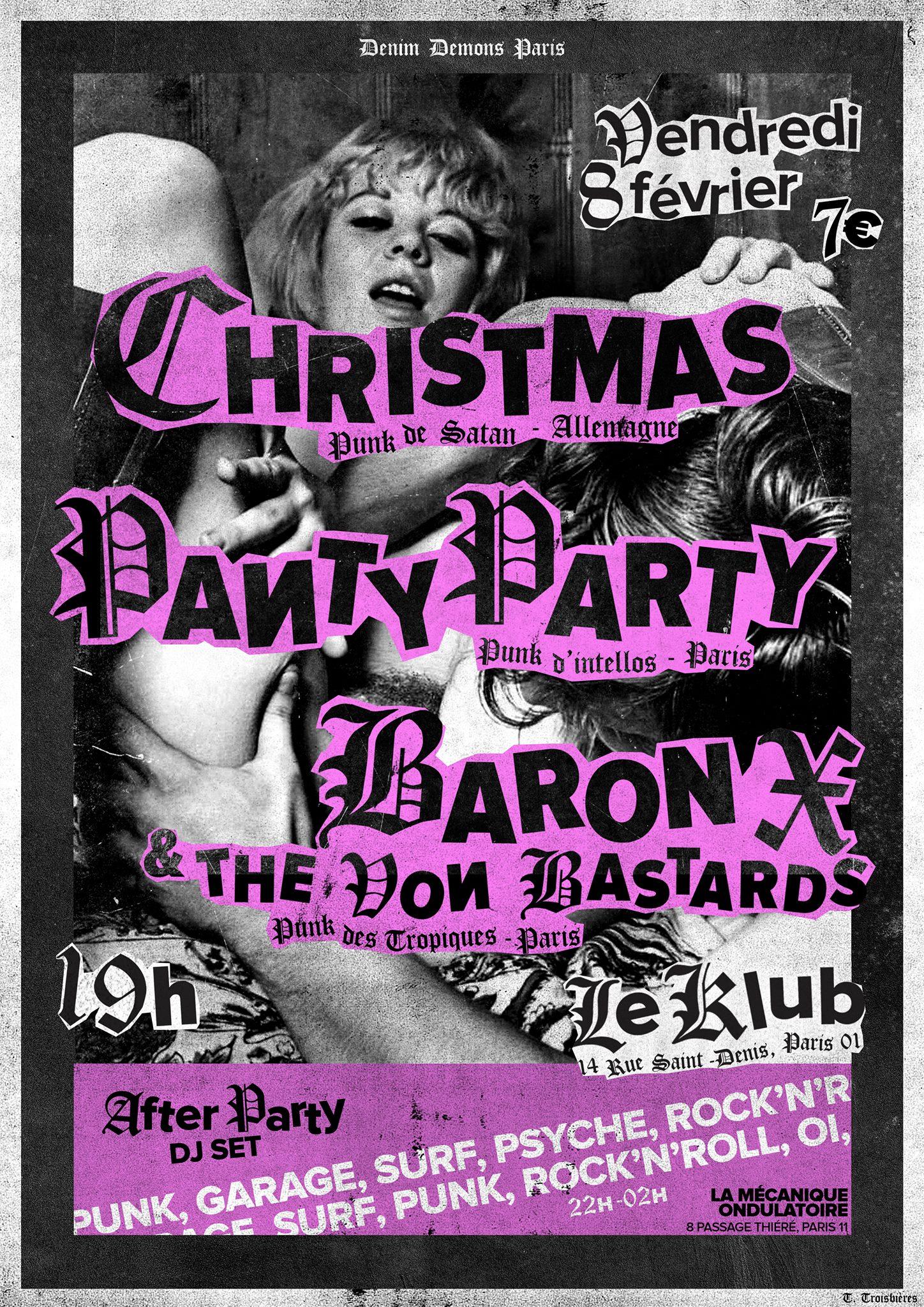 CHRISTMAS + PANTY PARTY + Baron X & the Von Bastards ■ 08.02