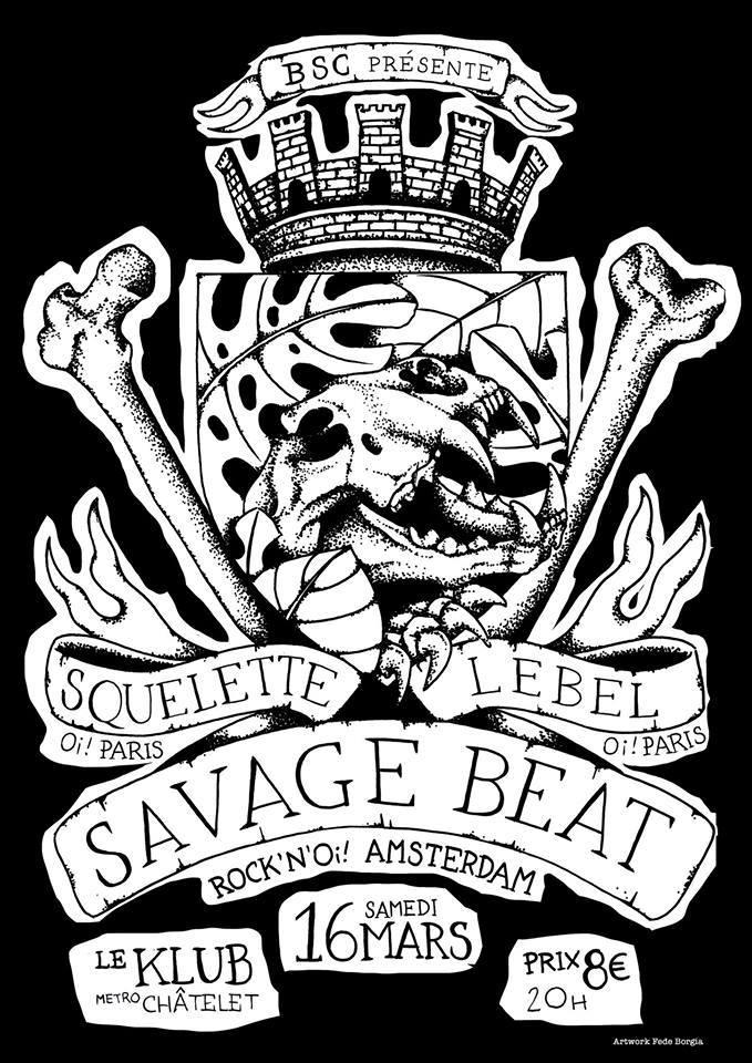 Savage beat + squelette + lebel ■ 16.03