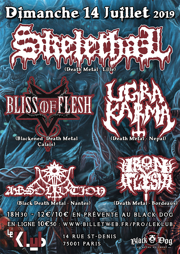 Skelethal, Bliss of Flesh, Ugra Karma, Absolvtion & Iron Flesh ■ 14.07