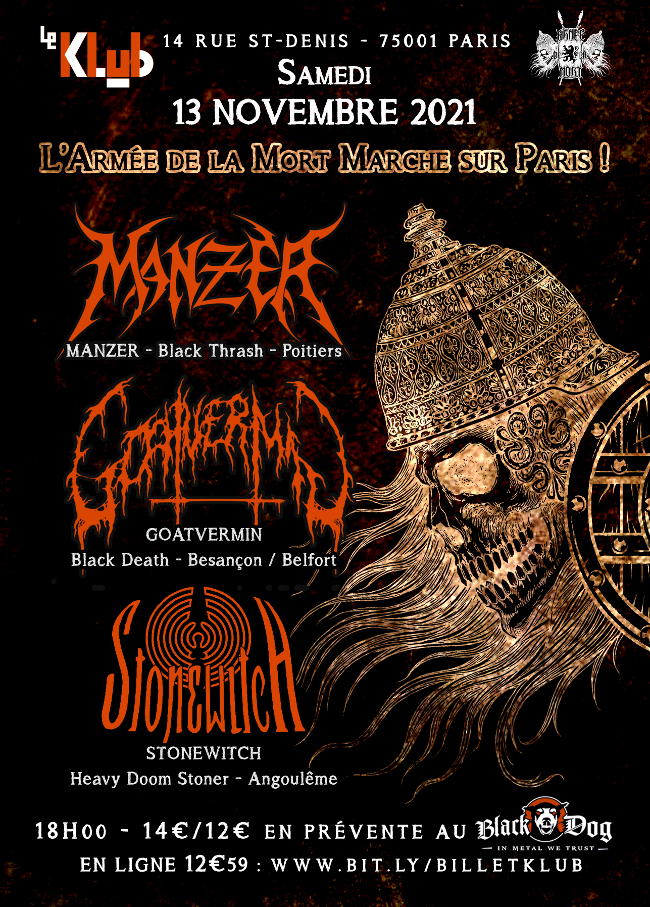 MANZER + GOATVERMIN + STONEWITCH ■ 11.09.21